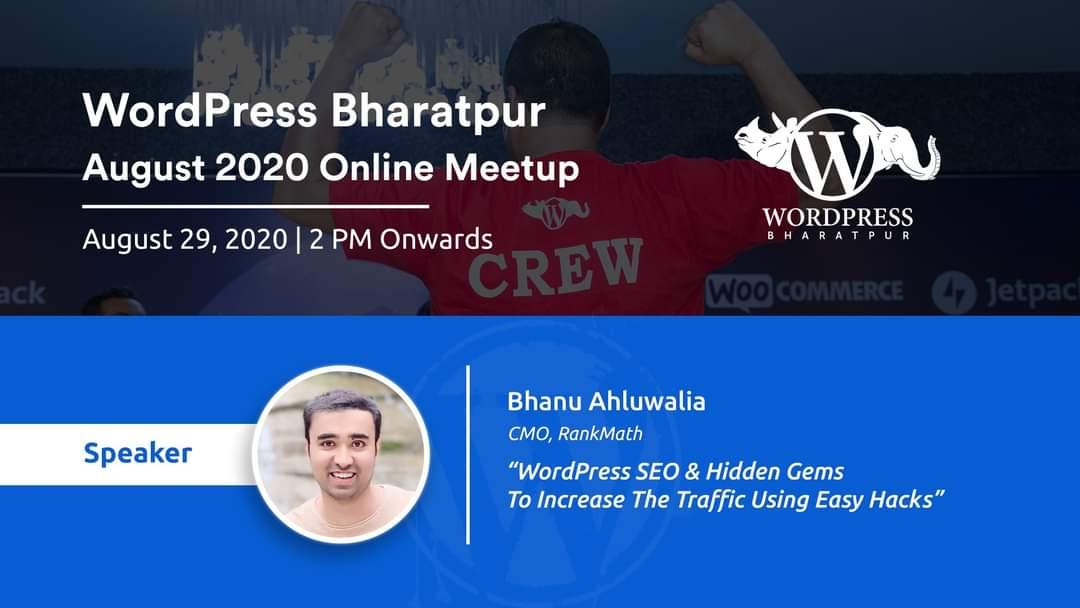 WordPress Bharatpur Online Meetup Aug 29