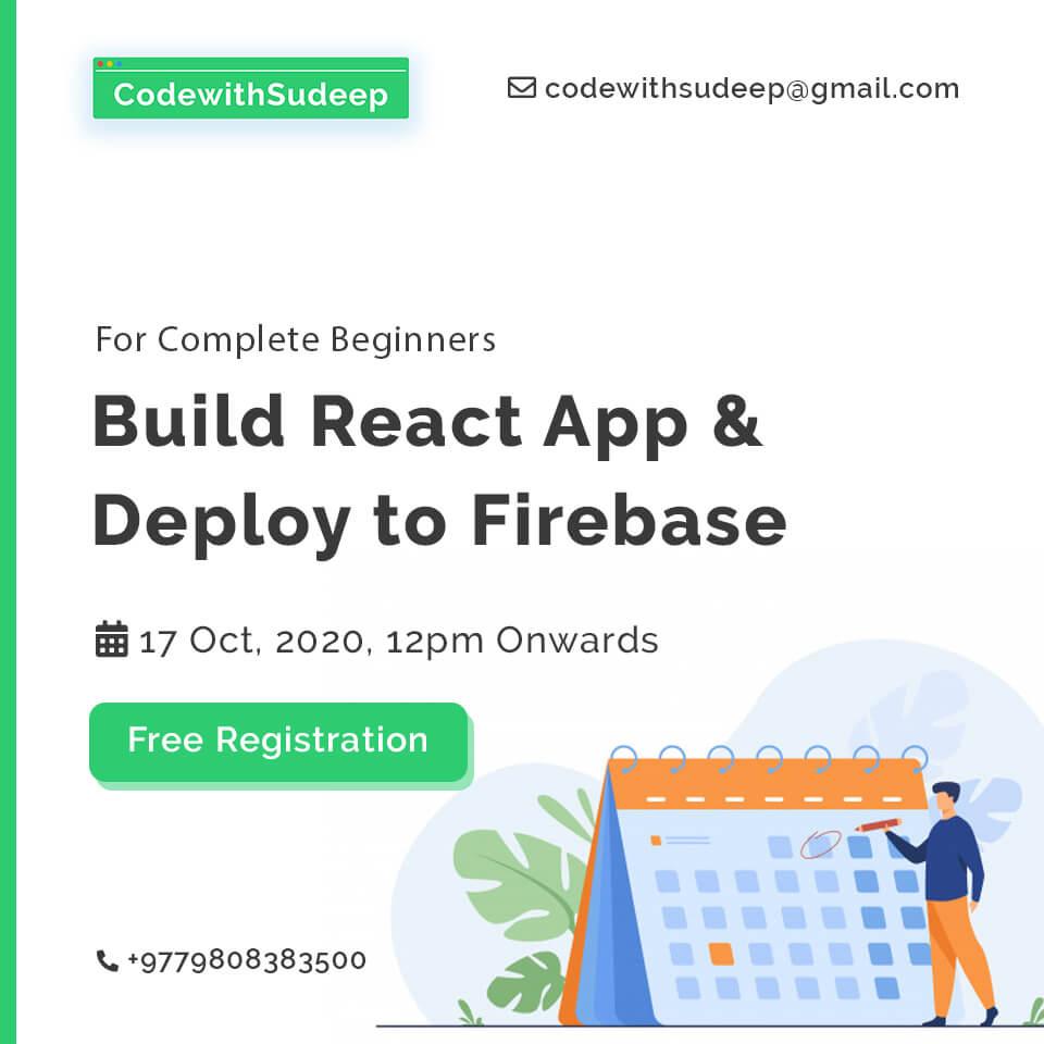 CodewithSudeep Build React App & Deploy to Firebase