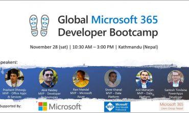 Global Microsoft 365 Developer Bootcamp at Kathmandu, Nepal.