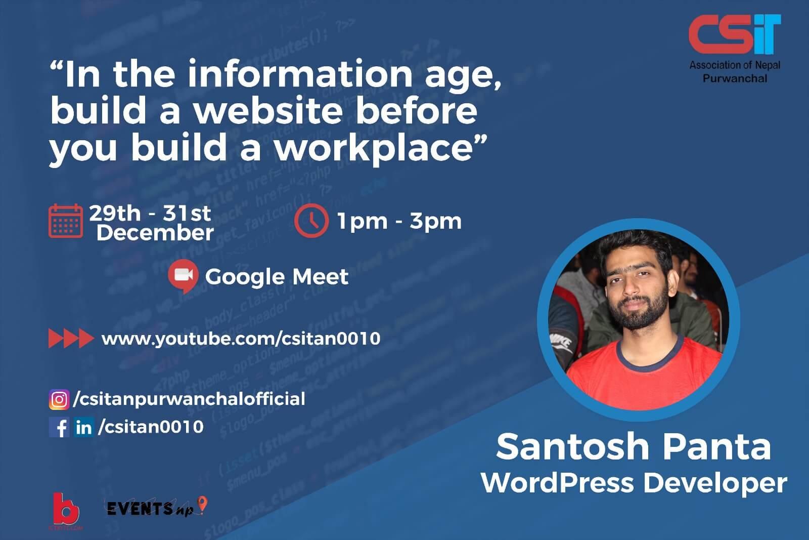 santosh panta WordPress