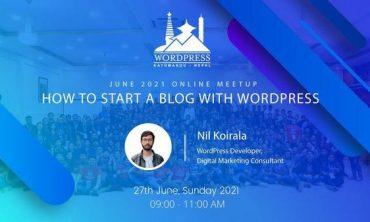 How To Start a Blog With WordPress – WordPress Kathmandu