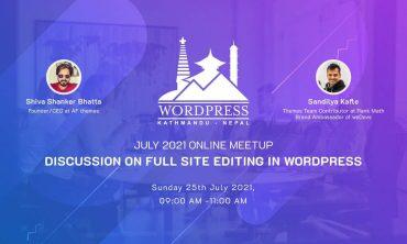 WordPress Kathmandu July 2021 Online Meetup