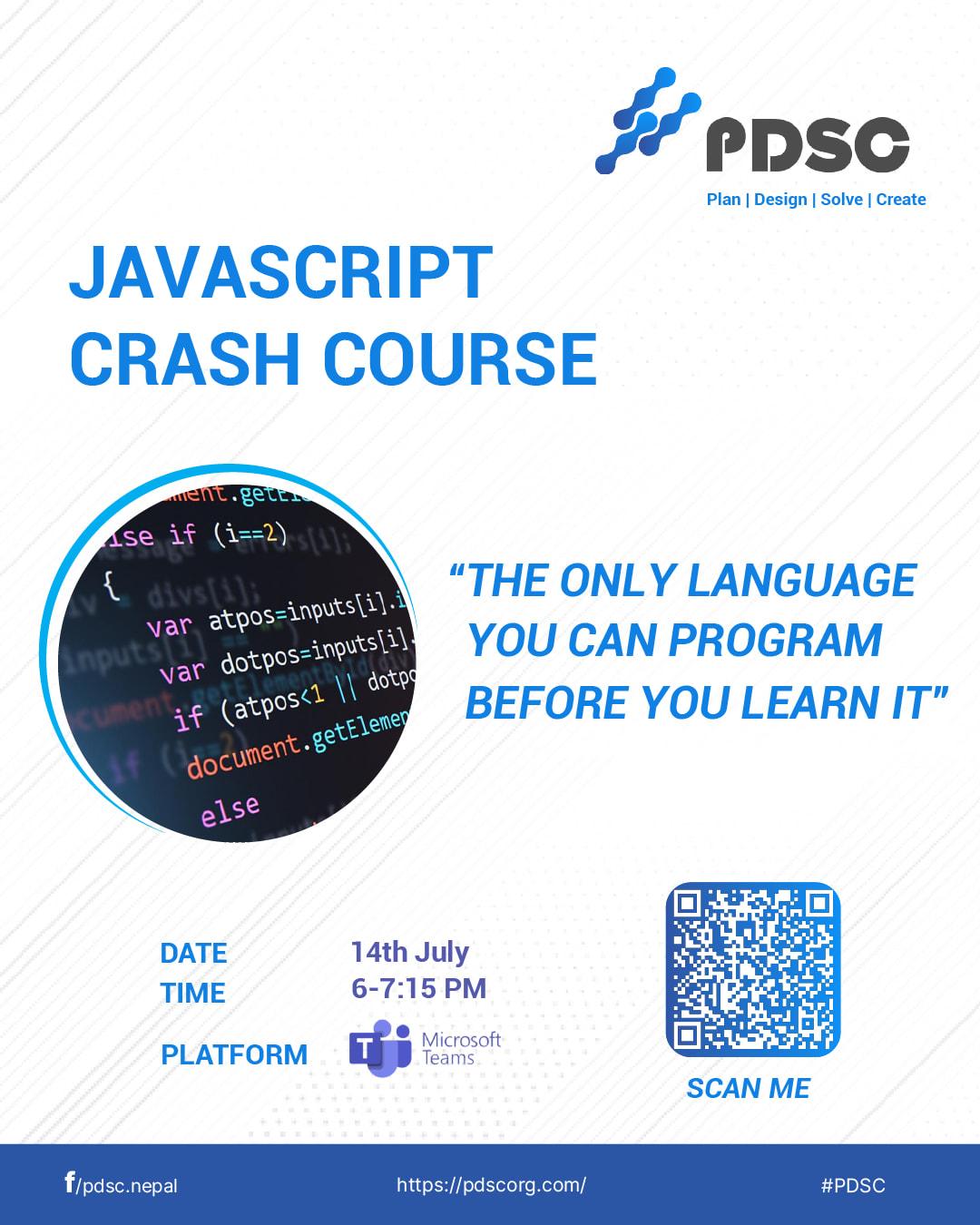 JavaScript Crash Course By PDSC